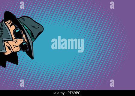 spy. surveillance and hacking. Comic cartoon pop art retro vector illustration - Stock Photo