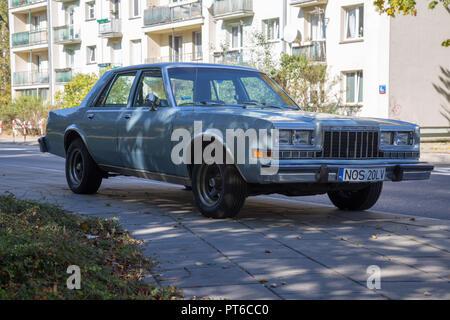 Dodge diplomat in Warsaw, Poland - Stock Photo