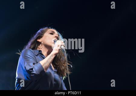 Ruth Lorenzo performs in Madrid, Spain  Featuring: Ruth Lorenzo Where: Madrid, Spain When: 05 Sep 2018 Credit: Oscar Gonzalez/WENN.com - Stock Photo