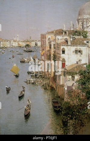 Martin Rico Ortega (1833-1908). Spanish painter. 'The Grand Canal and the Church of Santa Maria della Salute in Venice' (late nineteenth century). Museum of Fine Arts. Buenos Aires. Argentina. - Stock Photo