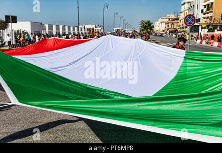 Rome,Italy - September 30, 2018:  In occasion of the 50th anniversary of the foundation of the National Association of Italian State Police, a huge It - Stock Photo