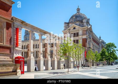 Victoria and Albert Museum in London, UK - Stock Photo