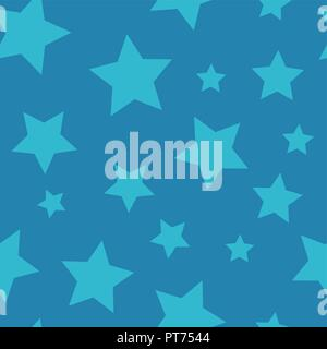 Starry Night - Seamless Background Pattern - Stock Photo