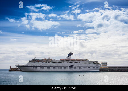 MV Magellan docked in Funchal, Madeira - Stock Photo