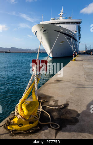 MV Magellan docked at Mindelo, Sao Vicente, Cape Verde - Stock Photo