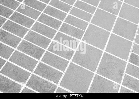 background texture white stone block floor tile - Stock Photo