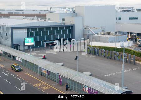 Edinburgh Airport, Car parks - Stock Photo