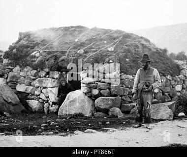 Kilkieran, West of Ireland, early 1900s - Stock Photo