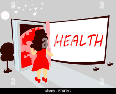 Handwriting text writing Health. Concept meaning State of being free from Illness Injuries Mental Physical condition. - Stock Photo