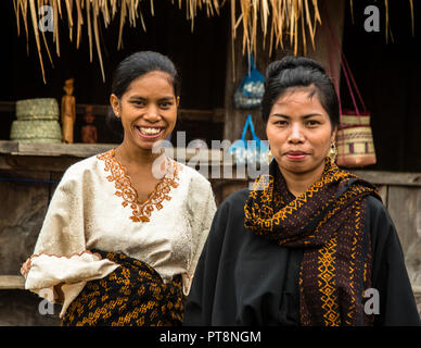 Indonesian People in traditional attire - Stock Photo