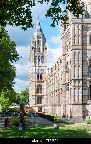 The Natural History Museum in London, designed in Romanesque style by Alfred Waterhouse. - Stock Photo
