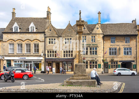Market Cross, Market Square, Stow-on-the-Wold, Gloucestershire, England, United Kingdom - Stock Photo