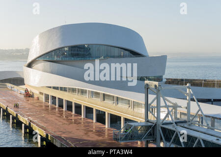 The modern cruise terminal that serves the city of Porto, Portugal; it also houses part of the University of Porto. - Stock Photo