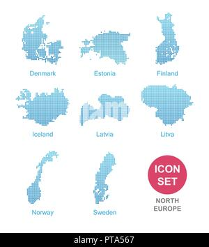 Counties of North Europe - Stock Photo