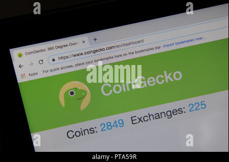 The CoinGecko website - Stock Photo