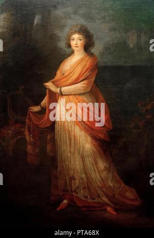 Portrait of Varvara Vasilyevna Golitsyna, née von Engelhardt (1757-1815), 1792. Creator: Füger, Heinrich Friedrich (1751-1818). - Stock Photo