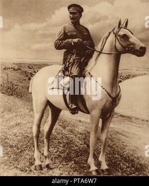 Portrait of Semyon Mikhailovich Budyonny (1883-1973). Creator: Anonymous. - Stock Photo