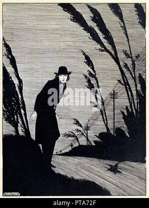 Midst of all was a Cold White Face, from The Year's at the Spring, pub. 1920 (engraving), 1920. - Stock Photo