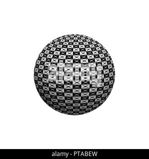 Abstract 3D sphere with interesting pattern. Illustration. - Stock Photo