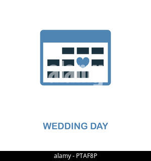 Wedding Day icon in two color design. Simple element illustration. Wedding Day creative icon from honeymoon collection. For web design, apps and print - Stock Photo