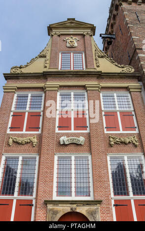 Facade of the museum in the center of Monnickendam, Holland - Stock Photo