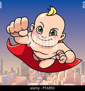 Super Baby City Background - Stock Photo