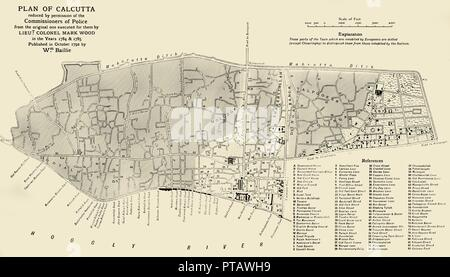 'Plan of Calcutta', 1925. Creator: Unknown. - Stock Photo
