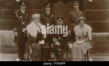 'H.R.H. The Duke of York, H.R.H. The Prince of Wales, H.R.H. Prince Henry, H.M. The Queen, H.M. The  Creator: Vandyk.