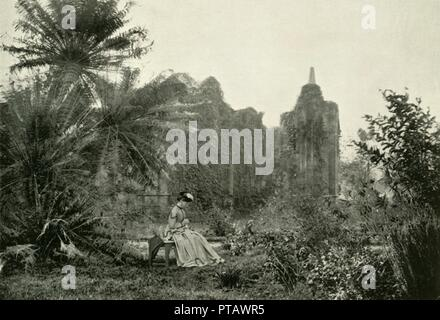 'Gothic Ruin in Barrackpore Garden, c1870', (1925). Creator: Unknown. - Stock Photo