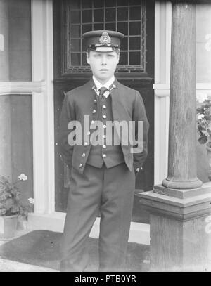 Prince Edward at the Royal Naval College, Osborne, Isle of Wight, c1909.  Creator: Kirk & Sons of Cowes. - Stock Photo