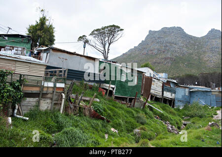 The township village of Imizamo Yethu a shanty town in Hout Bay, Cape Town, South Africa 2008 - Stock Photo