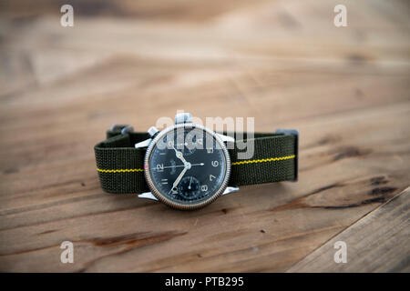 Hanhart calibre 40 single pusher chronograph issued to the Luftwaffe in world war 2 - Stock Photo