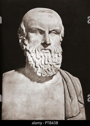 Bust of Aeschylus, c. 525/524 – c. 456/455 BC.  Ancient Greek tragedian. - Stock Photo