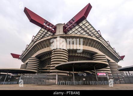 View on San Siro stadium in Milan - Stock Photo