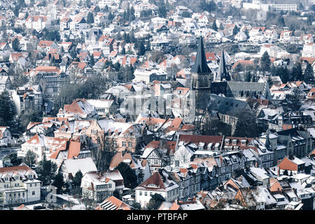 Wernigerode and the historical old town, Saxony-Anhalt, Germany - Stock Photo