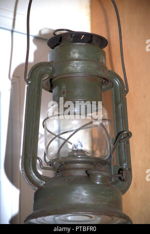 Kerosene or hurricane lamp - Stock Photo