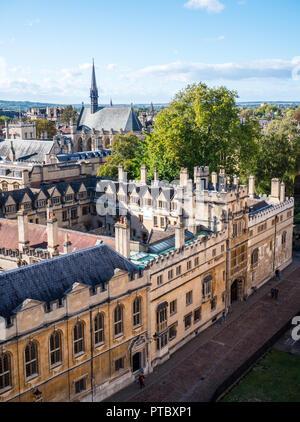 Brasenose College, Radcliffe Square, Oxford, Oxfordshire, England, UK, GB. - Stock Photo