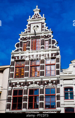 Beautiful building at the Old Cetral district in Amsterdam - Stock Photo