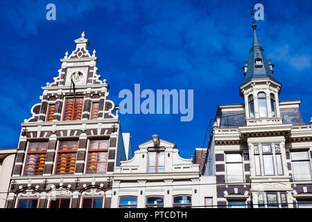 Beautiful buildings at the Old Cetral district in Amsterdam - Stock Photo