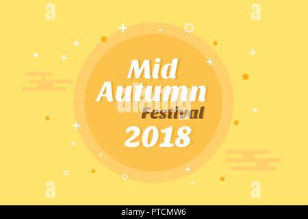 Chinese mid autumn festival banner design vector illustration - Stock Photo