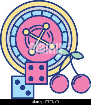 roulette dices casino game bet - Stock Photo