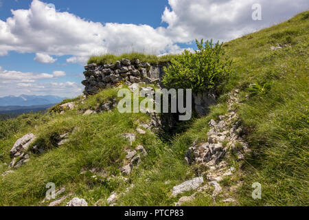 entrance to bunker from 1 world war - Stock Photo