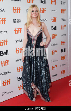 2018 Toronto Film Festival - 'Teen Spirit' - Premiere  Featuring: Elle Fanning Where: Toronto, Canada When: 07 Sep 2018 Credit: Jaime Espinoza/WENN.com - Stock Photo