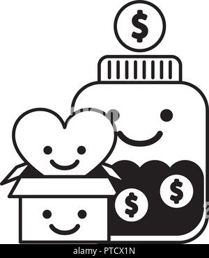 charity and donation - Stock Photo