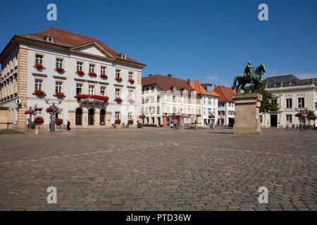 New Town Hall, town hall square, Landau in der Pfalz, Pfalz, Rhineland-Palatinate, Germany - Stock Photo