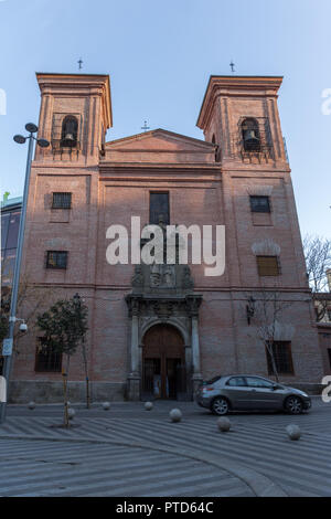 MADRID, SPAIN - JANUARY 24, 2018:  Amazing Morning view of Iglesia de San Martin de Tours in City of Madrid, Spain - Stock Photo