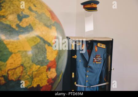 Uniforms of Josip Broz Tito, Museum of Yugoslavia, Belgrade, Serbia, Balkans, September 2018 - Stock Photo