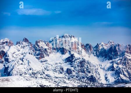 Brenta Dolomites seen from Monte Bondone - Stock Photo