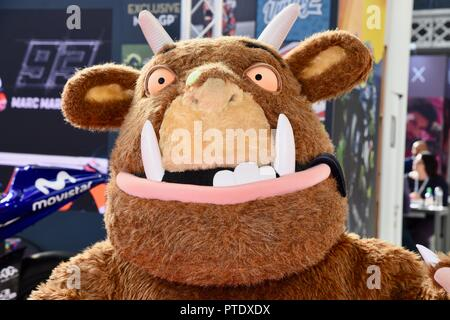 Olympia, London, UK. 9th October, 2018. The Gruffalo,Brand Licensing Europe,Olympia,London.UK Credit: michael melia/Alamy Live News - Stock Photo
