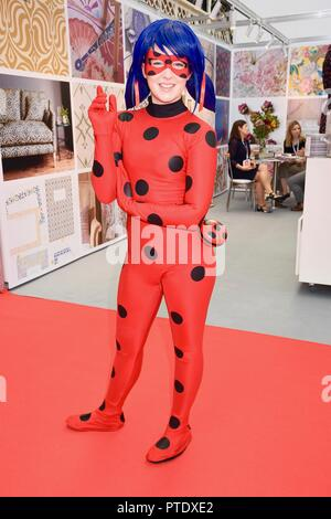 Olympia, London, UK. 9th October, 2018. Cat Noir,Tales of Ladybug,Brand Licensing Europe,Olympia,London.UK Credit: michael melia/Alamy Live News - Stock Photo
